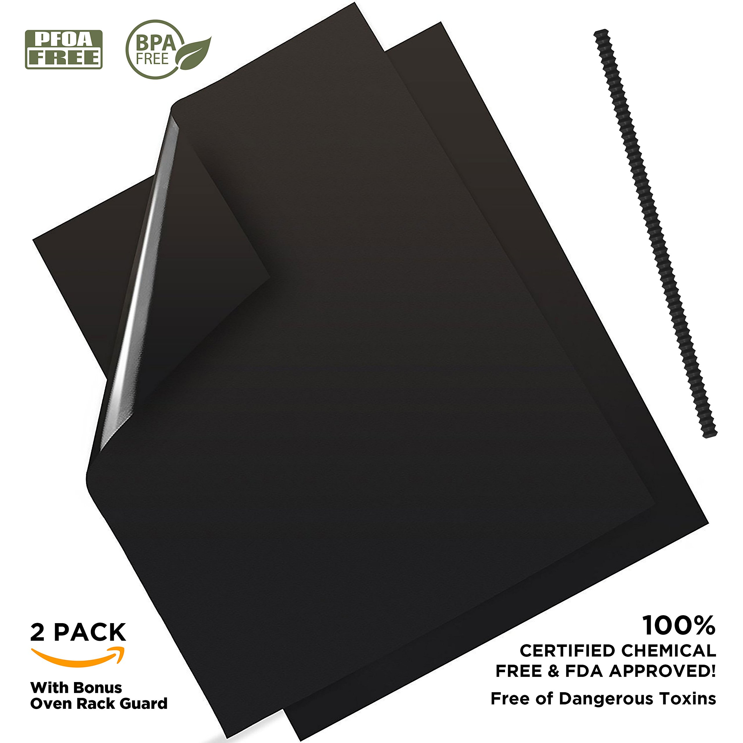 YHK 2 Pack Large Non-Stick Oven Liners - Premium Heavy Duty Liner for the bottom of Convection, Electric, Gas, Toaster & Microwave Ovens - Certified Protector BPA & PFOA Free by Your Humble Kitchen (Image #9)