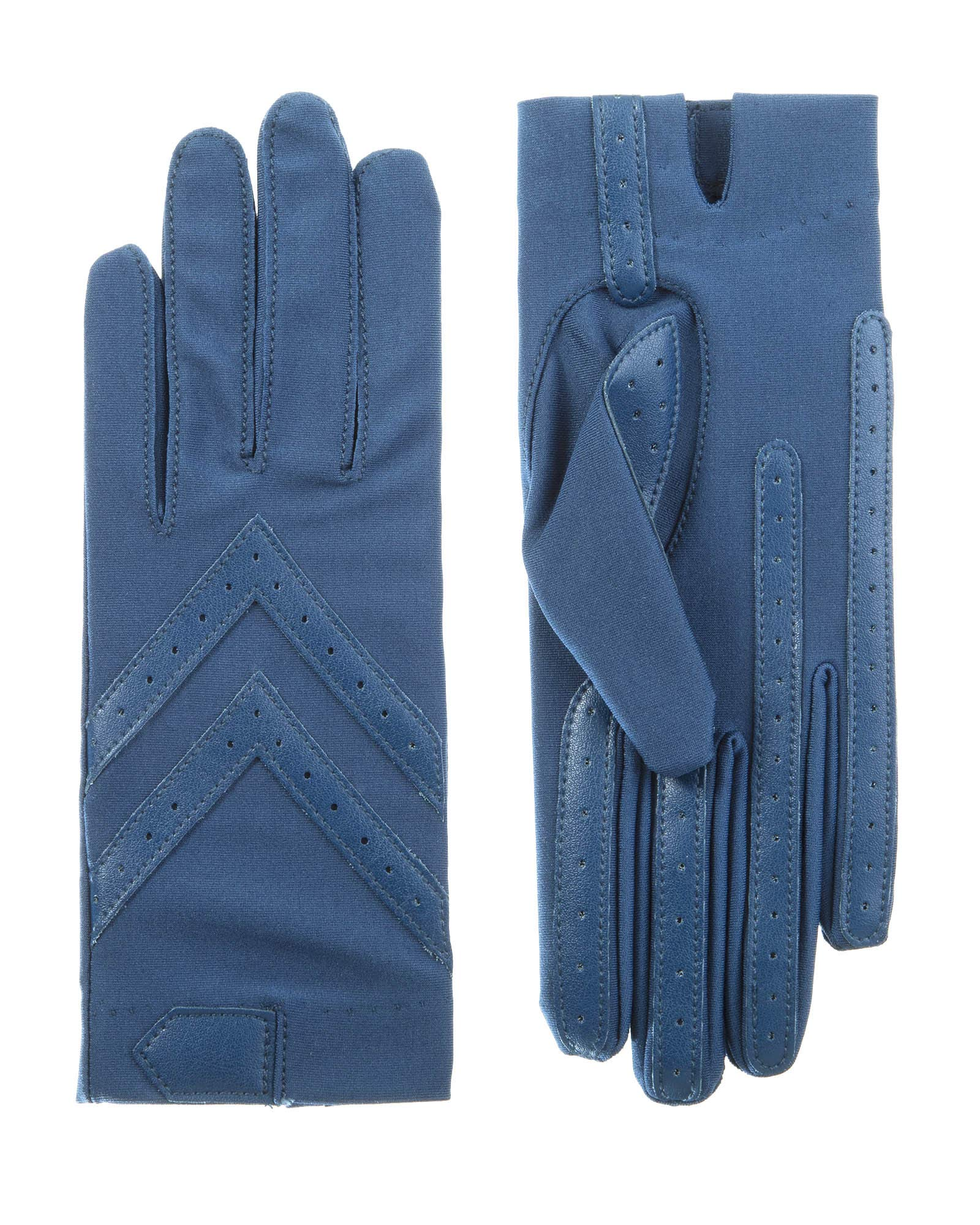 Isotoner Short Tech Touch Driving Gloves, Admiral Blue, Small/Medium by ISOTONER