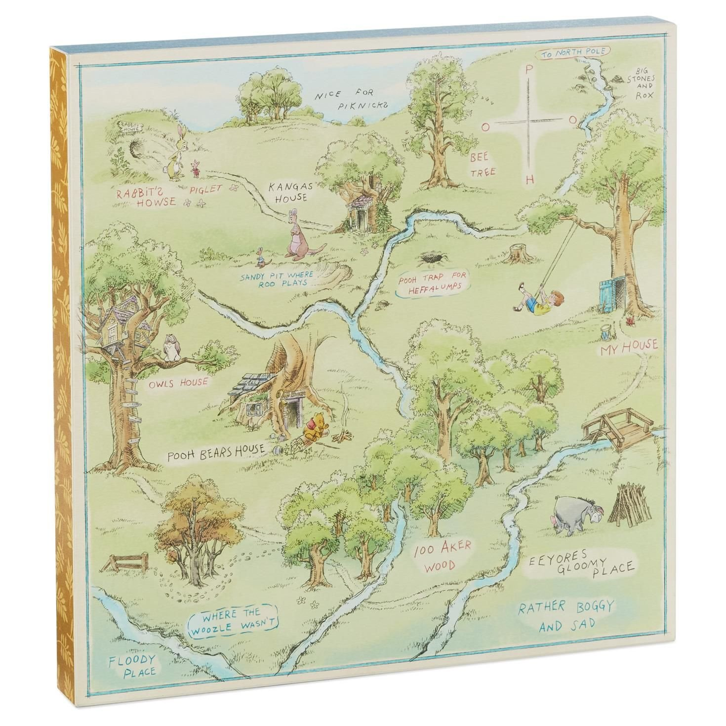 Hallmark Hundred Acre Wood Map Art Birthday