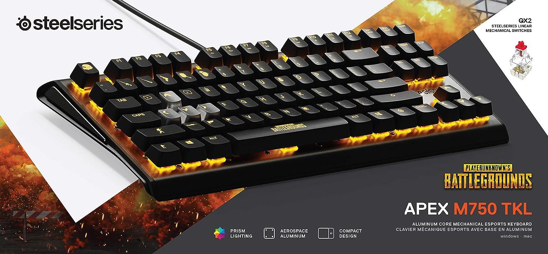 ad00ff8ef6b SteelSeries Apex M750 TKL PUBG Edition RGB Tenkeyless Mechanical Gaming  Keyboard - Aluminum Frame - RGB LED Backlit - Linear & Quiet Switch -  Discord ...
