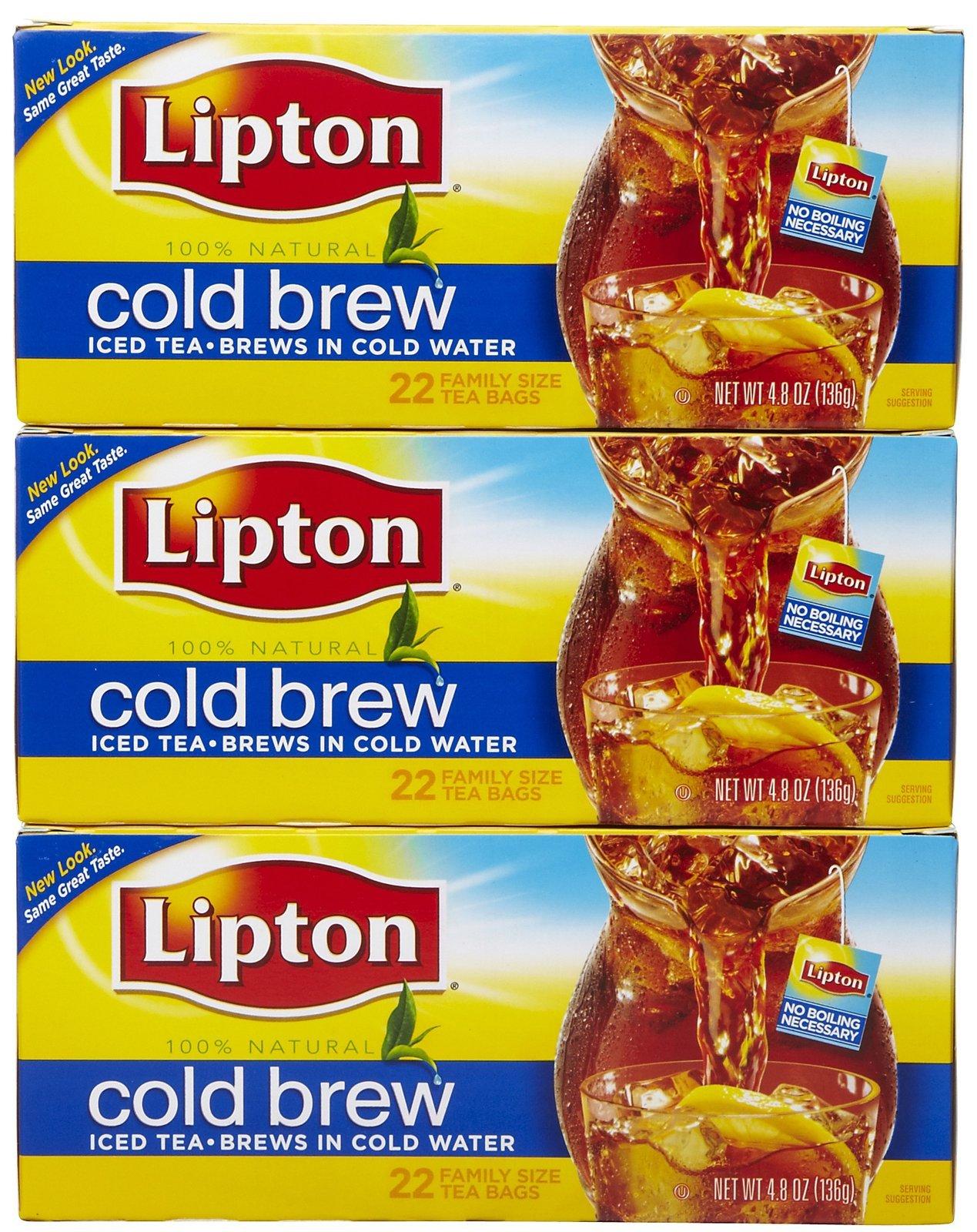 Lipton Black Tea Bags Cold Brew 22 Ct 3 Pack 2