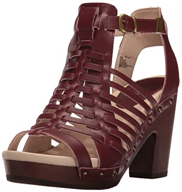 Jambu Women's Valentina Platform Dress Sandal, Wine, ...