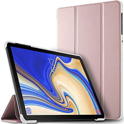 IVSO Samsung Galaxy Tab S4 10 5 Case –Ultra Lightweight Slim Smart Cover  Case Samsung Galaxy Tab S4 SM-T830/SM-T835 10 5 inch Tablet (Rose Gold)