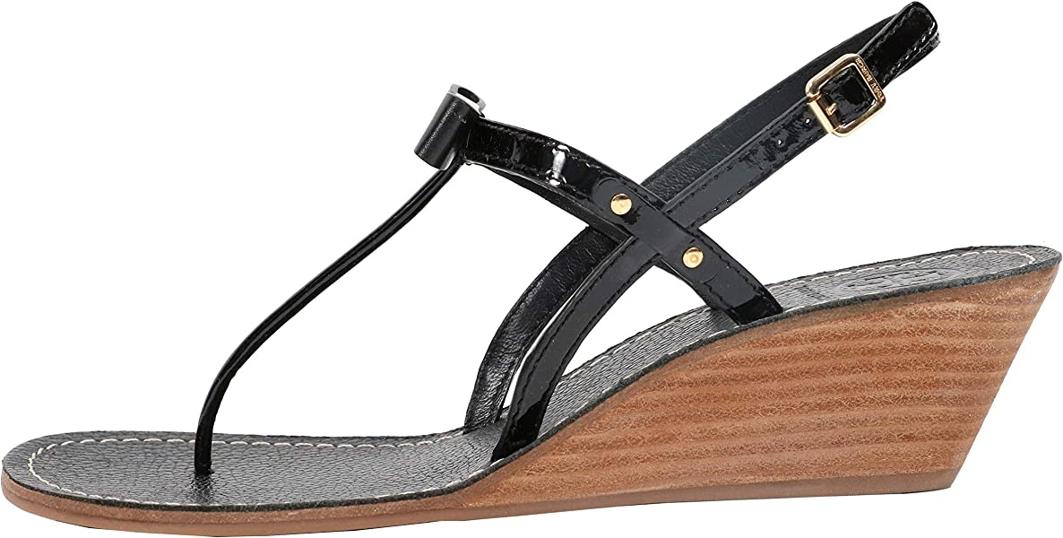 2381ac51cdc0 Kailey 50mm Wedge Thong Size 9 Black. Tory Burch Kailey 50mm Wedge Thong ...