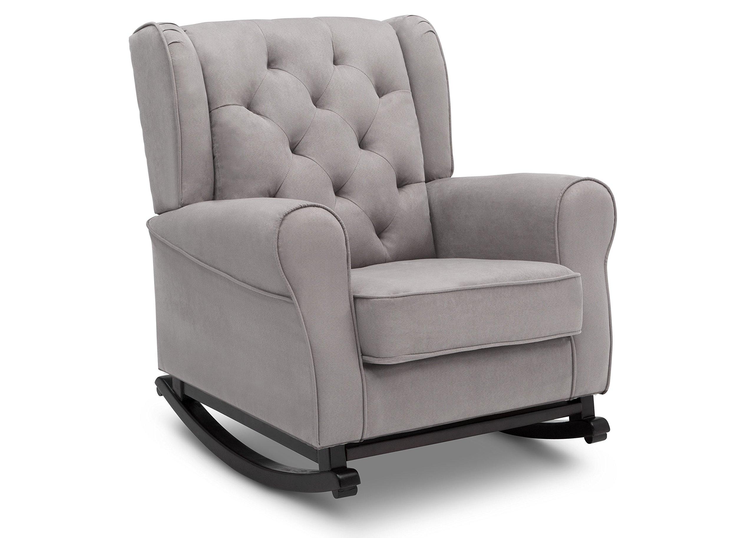 Delta Furniture Emma Upholstered Rocking Chair, Dove Grey
