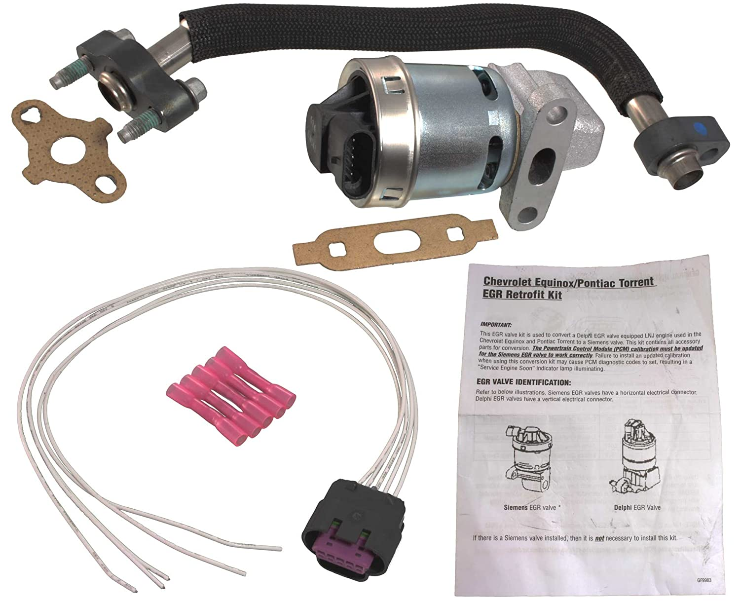 81DxAzQDi4L._SL1500_ amazon com apdty 112800 egr upgrade kit includes new egr valve 2006 pontiac torrent wiring harness at n-0.co