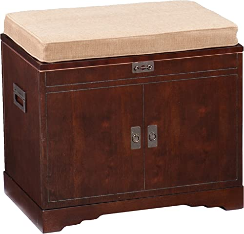 Southern Enterprises Whitehaven Chest with Tray Organizer, Solid, Espresso