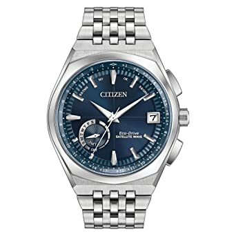 8f074ff2b58 Image Unavailable. Image not available for. Color  Citizen Satellite Wave  Blue Dial Stainless Steel Men s Watch CC302057L