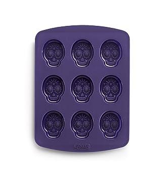 Lékué Calavera Loca - Molde para bombones, diseño de calavera y juego inspirado en la ruleta rusa: Amazon.es: Hogar