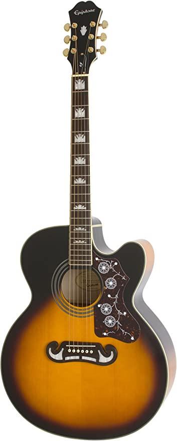 Epiphone EJ-200SCE - Guitarras electroacústicas, color vintage ...