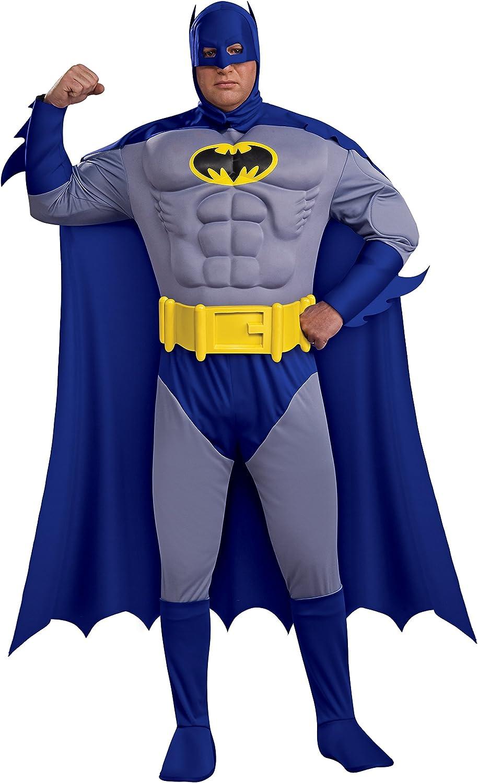 Deluxe Adult Dark Knight Batman Fancy Dress Superhero Mens Muscle Chest Costume