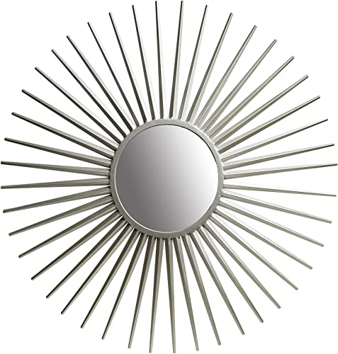 36 Silver Sunray Wall Accent Mirror