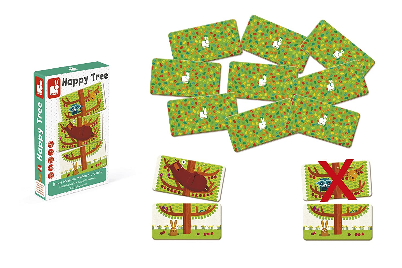 Janod J02761 Ged/ächtnisspiel Happy Tree