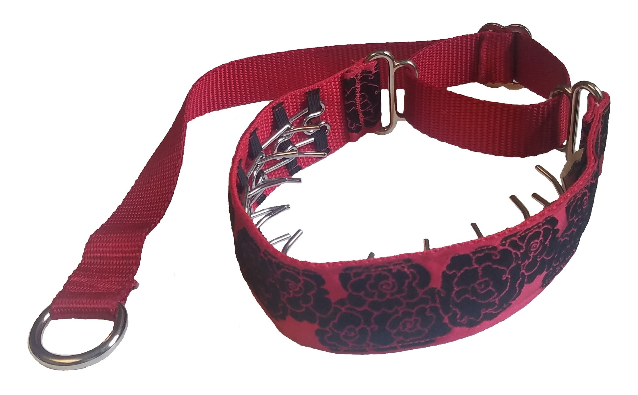 Lola's Limited Secret Powers Training Collar (2.3 mm, 10 prongs; Short Fur, 19''-22'' Neck) (2.3mm, 10prong, Large, Sherbert Flower Kite on Orange)