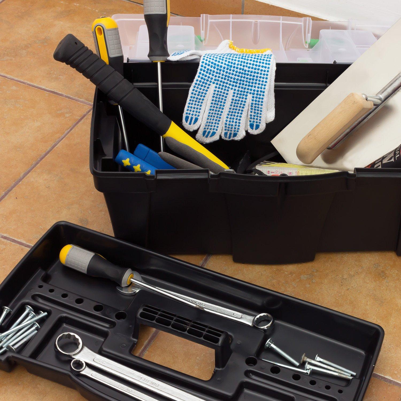 Prosperplast Greenbox N18G Werkzeugkoffer Heimwerkerkoffer Werzeugkasten 460 x 260 x 230 mm Service