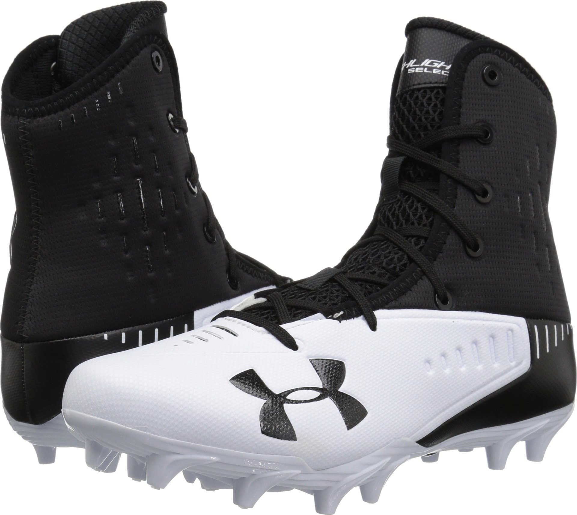 Under Armour Men's UA Highlight Select MC Black/White 13.5 D US by Under Armour