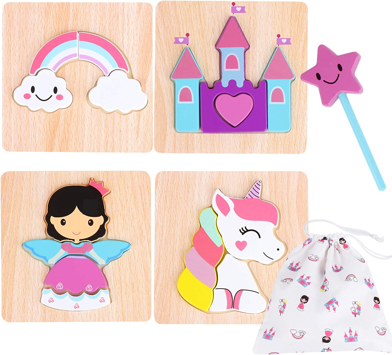 Travelling etc Weddings Prizes Great for Party Bags 6 x Unicorn Puzzle Books