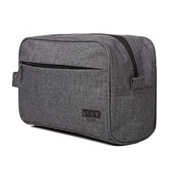 549548e927b Amazon.com   TOURIT Lightweight Toiletry Bag Case Water resistant Travel  Shaving Dopp Kit for Men, Grey   Beauty