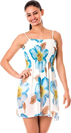d93a8ec1b658 Image Unavailable. Image not available for. Colour  IgorBella Bluesh Floral  Flower Lady Woman Girl s Summer Casual Sleeveless Evening Party Cocktail ...