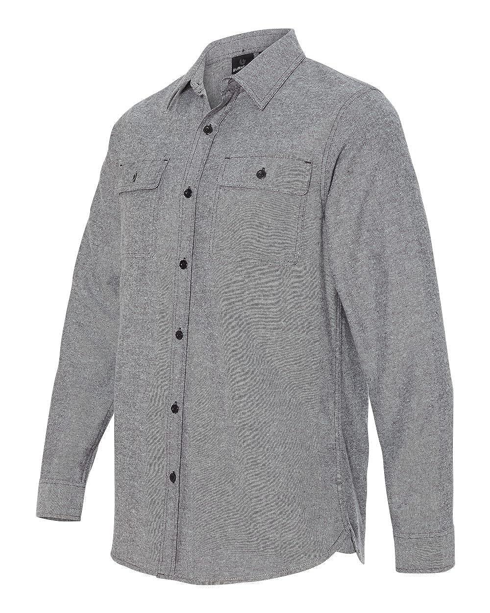 Burnside Mens Long Sleeve Solid Flannel Button Down Shirt B8200