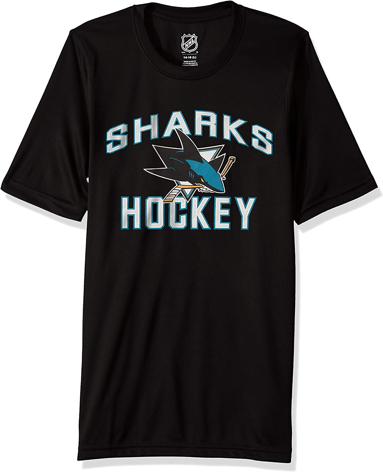 """NHL by Outerstuff Youth Boys """"Quick Net"""" Performance Short Sleeve Tee"""