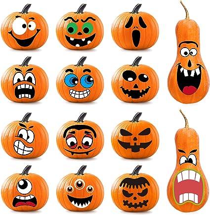 Amazon Com Whaline 64pcs Halloween Pumpkin Stickers 14 Funny And