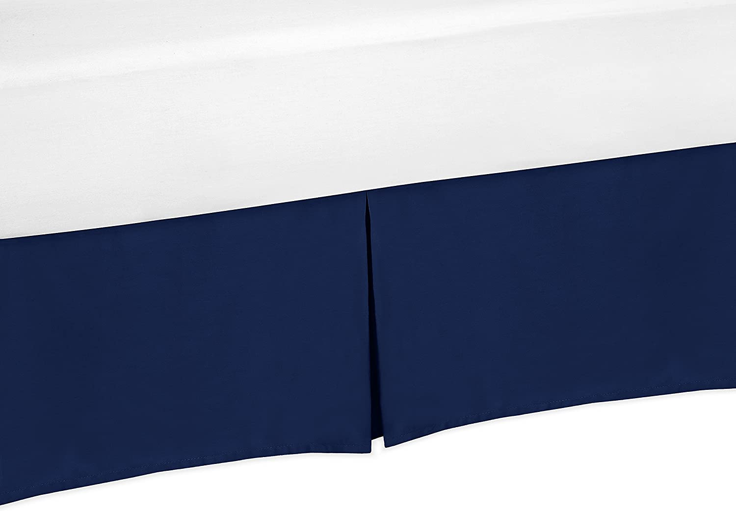 Navy Blue Crib Bed Skirt for/Baby Bedding Sets