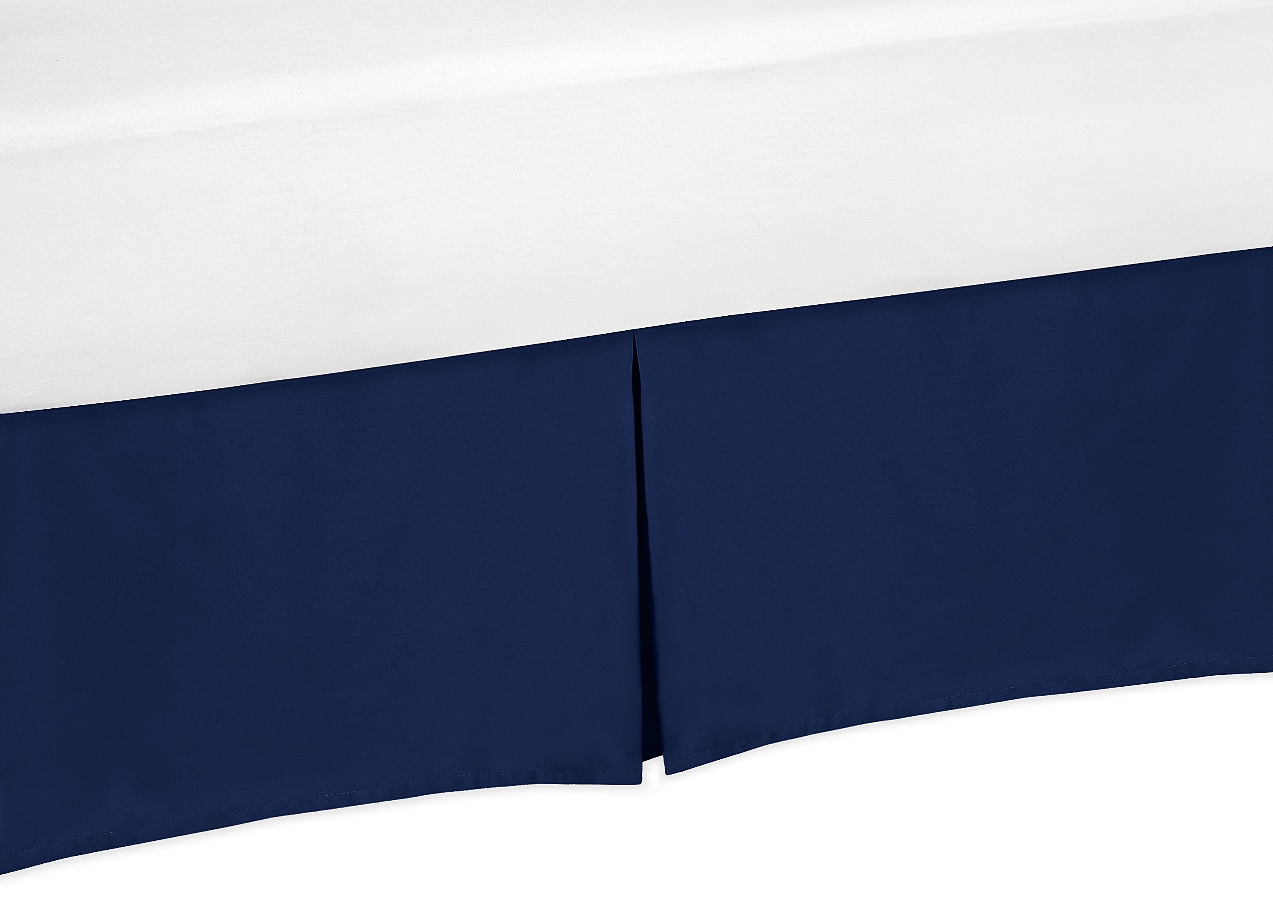 Sweet Jojo Designs Navy Blue Crib Bed Skirt for Baby Bedding Sets