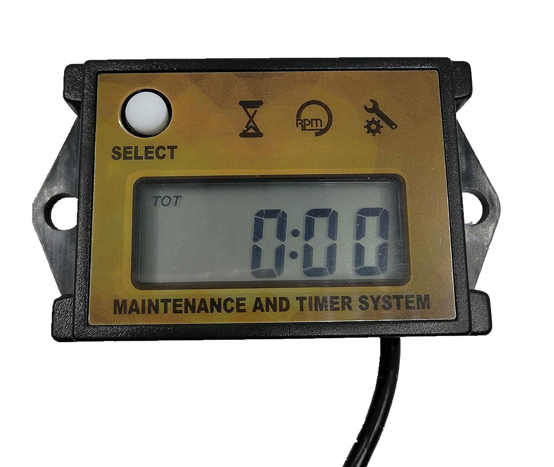 Tachometers Self Powered Digital Tach/Maintenance/Hour Meter ...