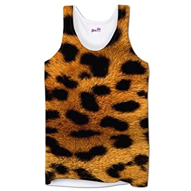 b3948ace58fcc5 Mens Vests Workout Tank Tops Printed Leopard Skin Animal Print Holiday  Clothes Festival Top  Amazon.co.uk  Clothing