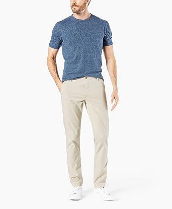 5901aa920c4c Dockers Men's Slim Fit Downtime Khaki Smart 360 Flex Pants, Sahara Khaki,  ...