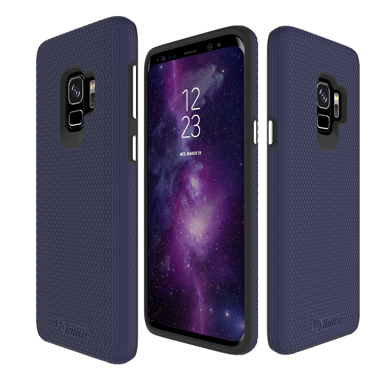 Toiko [X-Guard] Galaxy S9 Case High Impact Resistant Fully Protective Dual Layer Case with Soft TPU Interior Durable PC Exterior