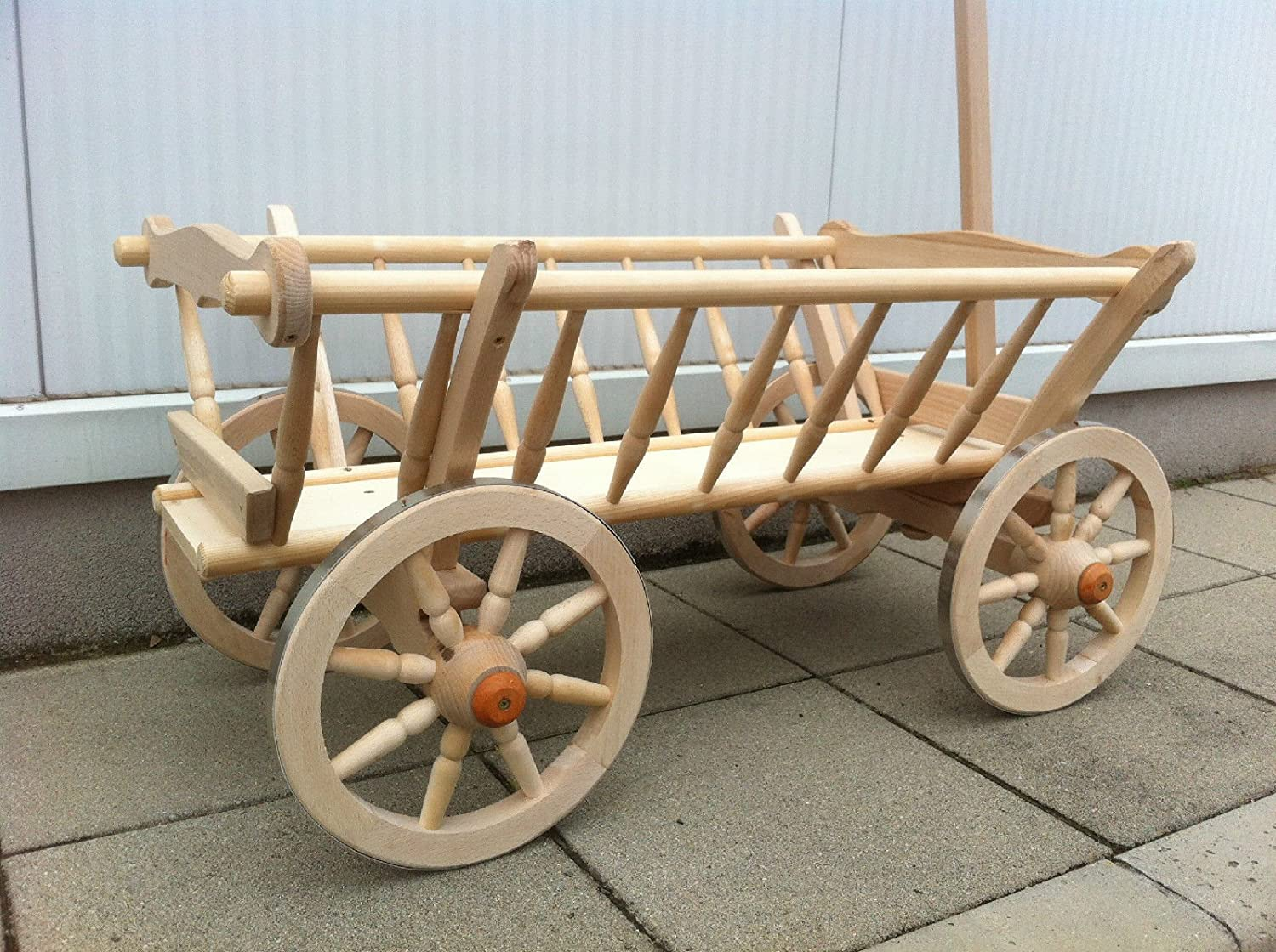 Amazon.com: New Wooden Farm Cart ⁄ Wagon Goat Cart: Kitchen & Dining
