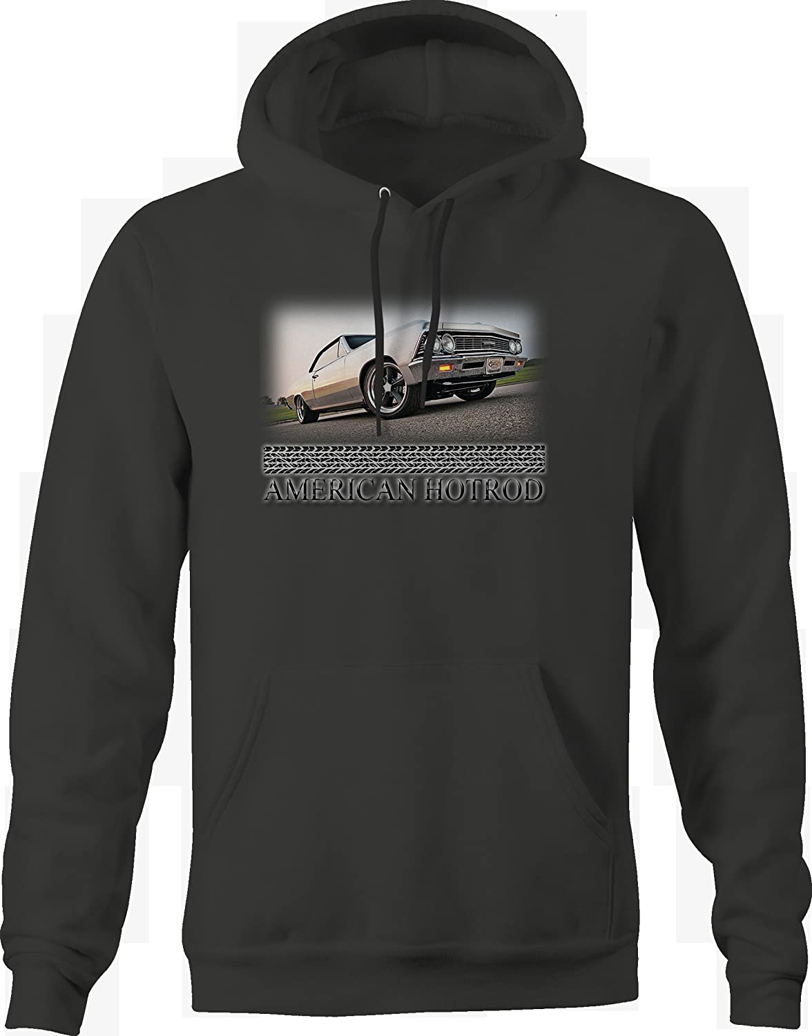 Bold Imprints American Hotrod Muscle Car Muscle Car V8 Restored Graphic Hoodie for Men