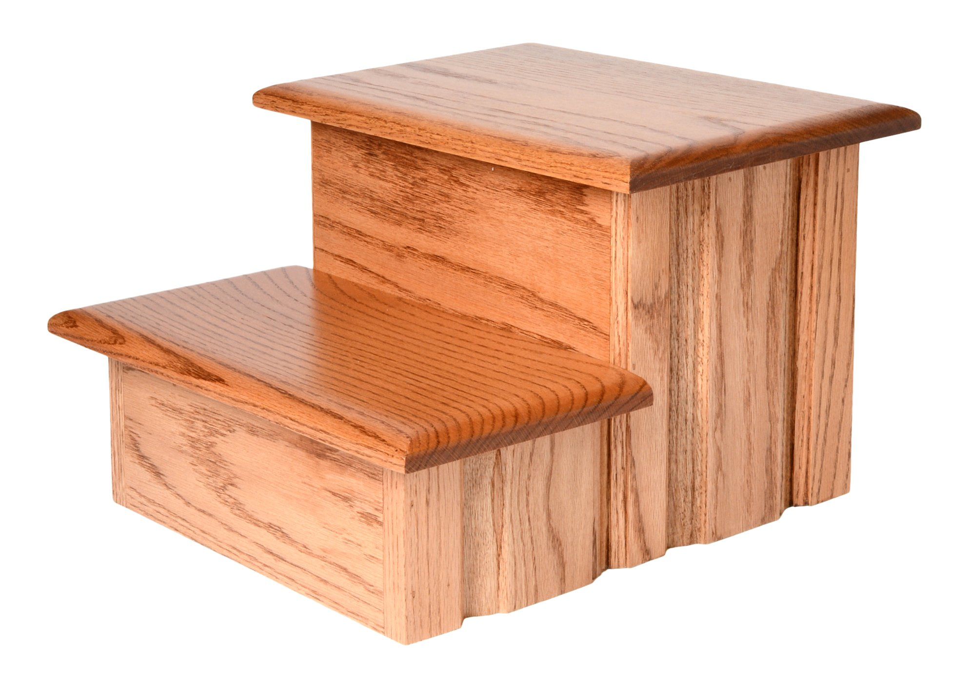 Early American Finished Solid Oak Step Stool With Solid Tread 11 ½'' Tall