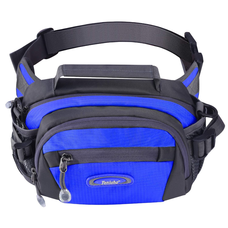 Y&R Direct Fanny Pack Waist Bag Packs Large Running Belt Bum Purse Bags with Bottle Holder Extension Strap Women Men Boy Girls Kids Gifts Waterproof Multicolor Outdoor Walking Hiking (Sky Blue)