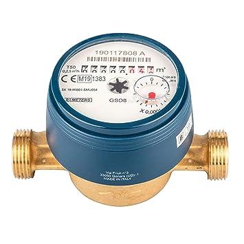 Warmwasserzähler Schütz Wasserzähler Wasseruhr 130mm QN 2,5 mit Verschraubung