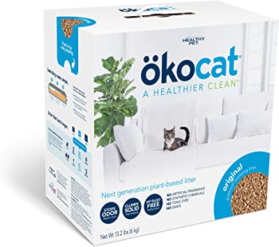 Okocat Natural Wood Clumping Pellet Cat Litter