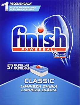 Finish Classic Regular Pastillas para Lavavajillas - 57 Pastillas ...