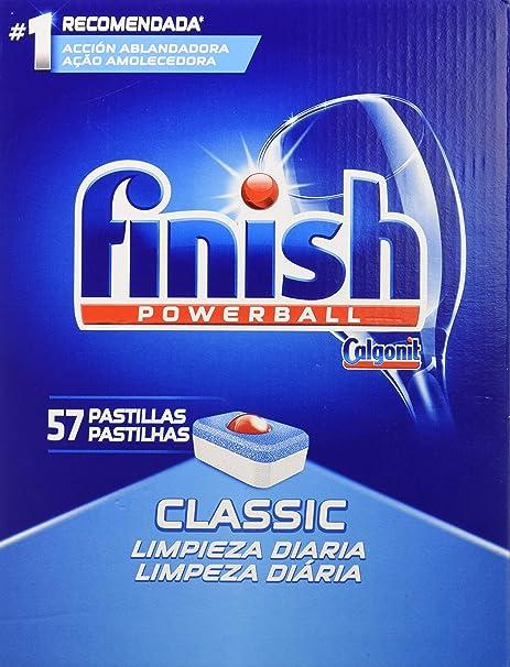Finish Classic Regular Pastillas para Lavavajillas - 57 Pastillas, 5 paquetes