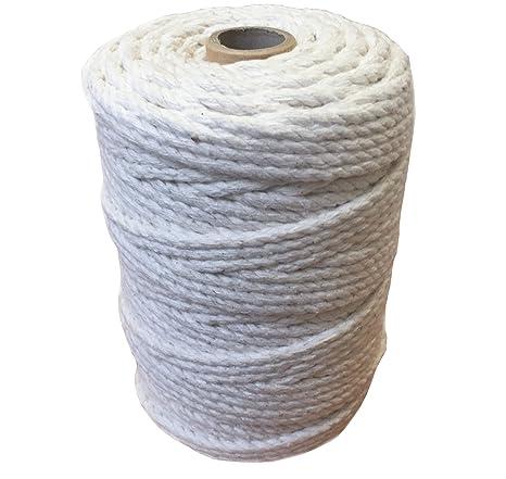 Cuerda de macramé 100% de algodón natural, carrete de 1