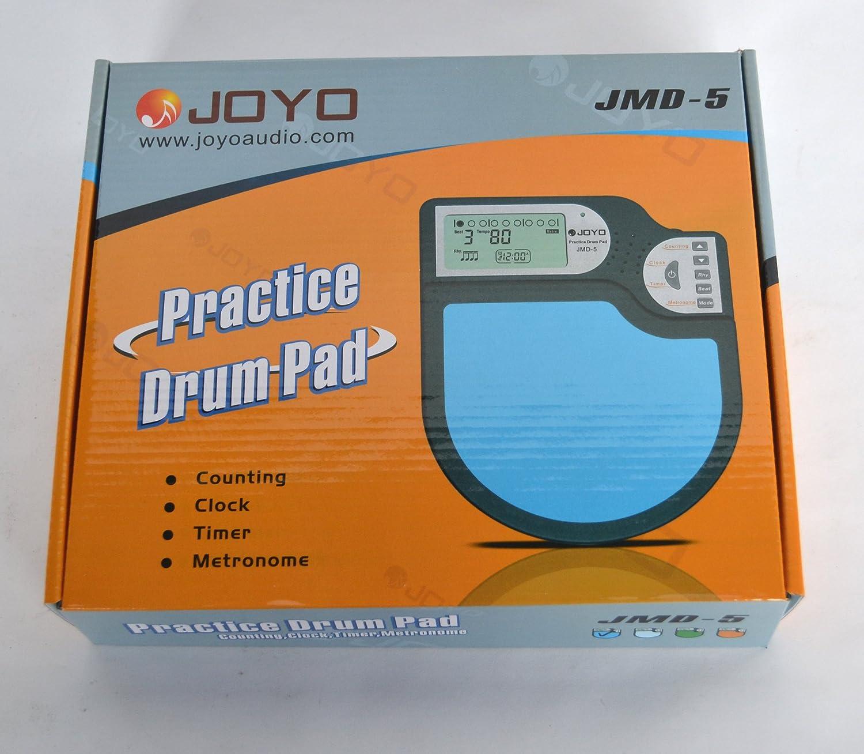 Joyo Drum Pad de práctica, metrónomo con caja de marcha tambor Jmd-5: Amazon.es: Instrumentos musicales