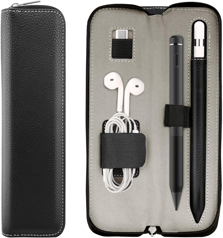TiMOVO Funda de L/ápiz Compatible con Apple Pencil 2nd Gen Protector de Pencil de PU Cuero con Correa El/ástica Cubierta Caver para iPad Pro 11 2018 iPad Pro 12.9 2018 Morado