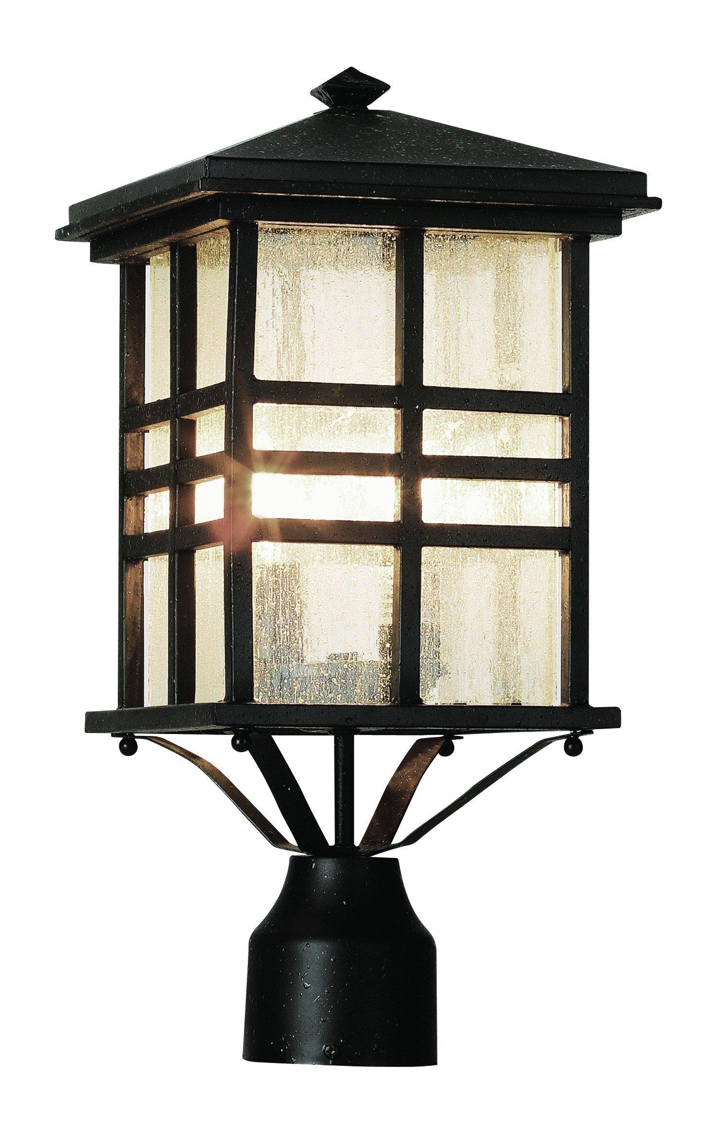 Trans Globe Lighting 4639 BK Outdoor Huntington 16'' Postmount Lantern, Black