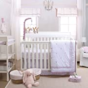 Leila Lavender Floral 3 Piece Baby Crib Bedding Set by Petit Tresor