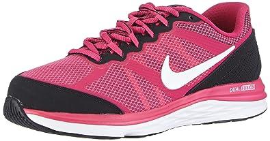 2b1121c01a7f Nike Girl s Dual Fusion Run 3 (GS) Running Shoe Hot Pink Black