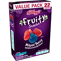Fruity Snacks, Mixed Berry, Gluten Free, Fat Free, 17.6 oz (22 Pouches)