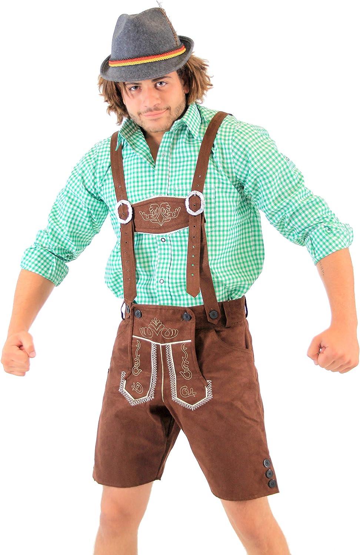 Amazon.com: Disfraz bávaro de Oktoberfest, pantalones ...