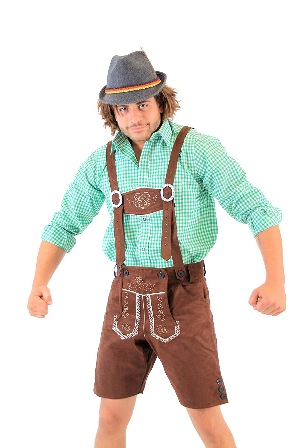 amazon com oktoberfest german bavarian lederhosen costume clothing