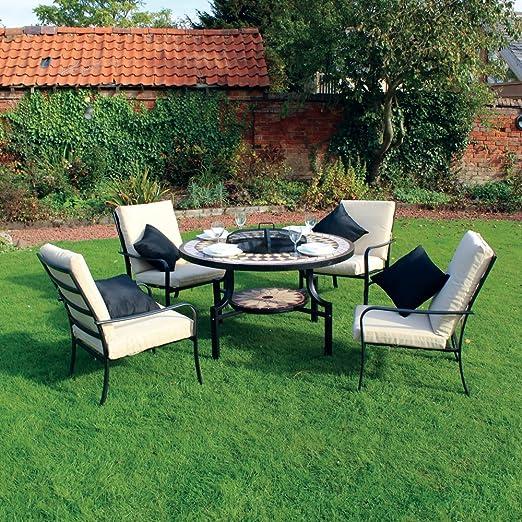 Kingfisher - Conjunto de Muebles de jardín, Mesa con encimera de ...